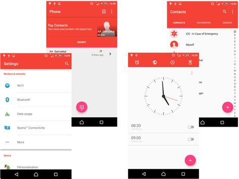 xperia themes material design red material design xperia themes gizmo bolt exposing
