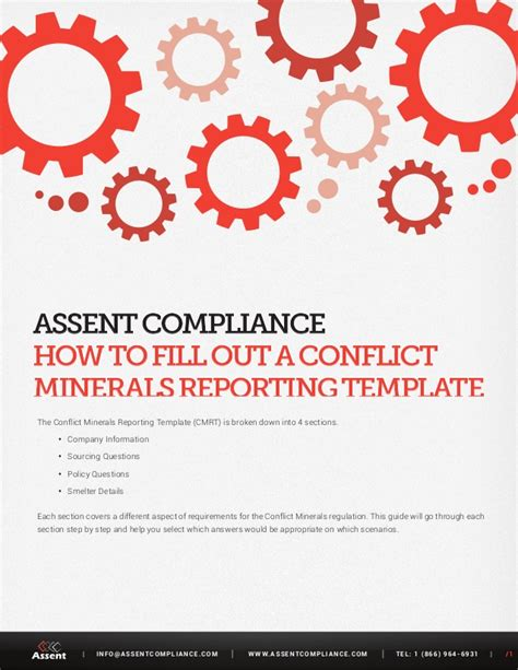 conflict minerals reporting template cmrt 3 01 guide how to by assent compliance