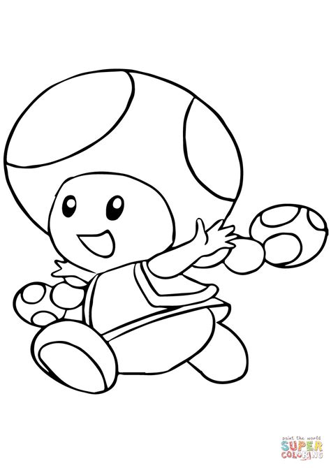 mario coloring toadette coloring page free printable coloring pages