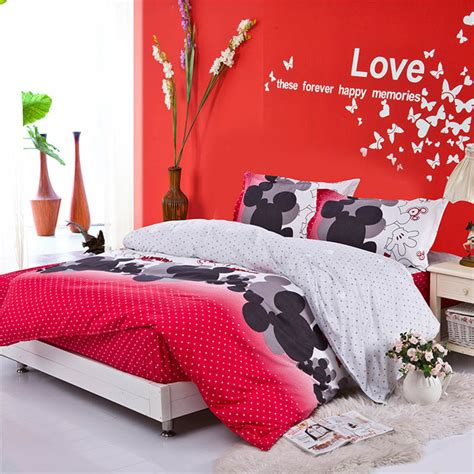 mickey mouse bed set full size free shipping full queen king size mickey mouse bedding