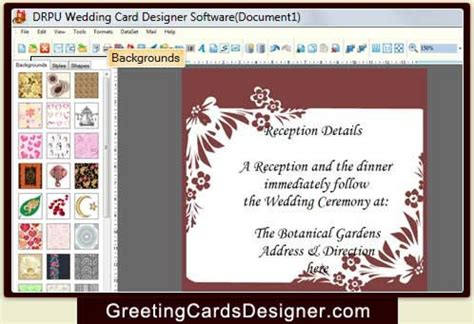 Wedding Card Design Software For Android by Beautiful Wedding Invitation Card Design App Wedding