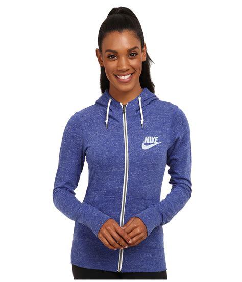 Jaket Hoodie Sweater Zipper Nike nike vintage zip hoodie in blue lyst
