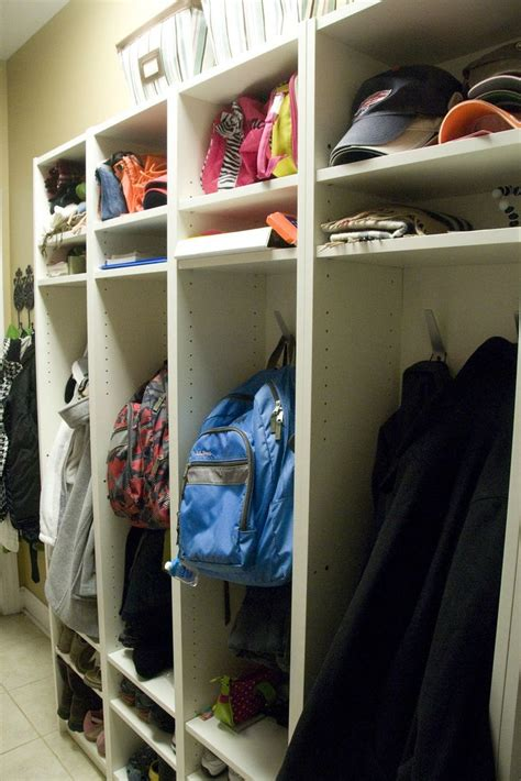 mudroom lockers ikea ikea billy bookcase mudroom locker hack organizing