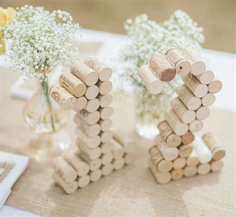 Wine Cork Table Numbers Diy A Wine Country Wedding The