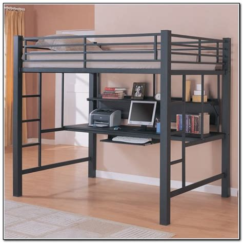 full loft bed with desk full size loft bed with desk ikea beds home design