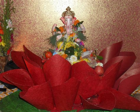 craft ideas for decorations creative ganpati decoration ideas for home the royale
