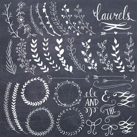clip chalkboard laurels wreaths clipart photoshop