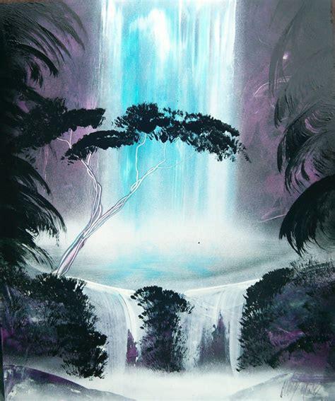 spray paint waterfall jungle waterfall spray paint