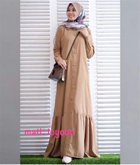 Anggun Coksu busana muslim katun toyobo rayna maxi gamis modern terbaru