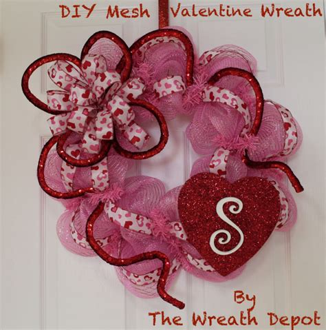 valentines mesh wreath diy deco mesh wreath quot make it personal quot the
