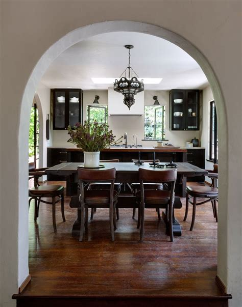 dining room in spanish kitchen and dining room design with a spanish feel home