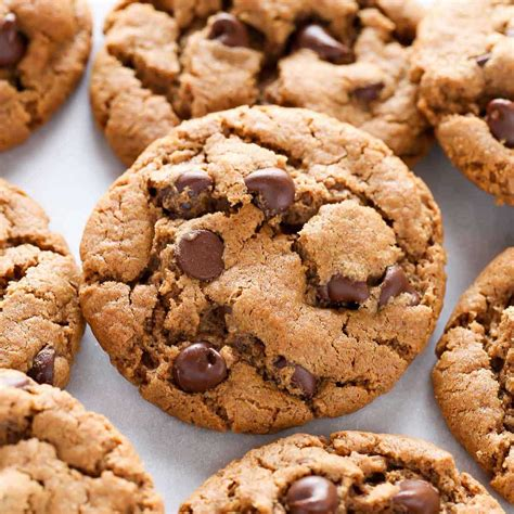 Choco Almond Cookies easy flourless almond butter chocolate chip cookies