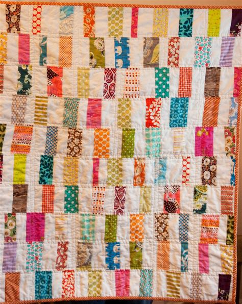 I To Quilt by Craftyblossom Scrappy Bar Quilt