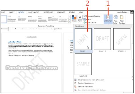 cara membuat background watermark di coreldraw cara memasukkan dan membuat watermark di word 2013