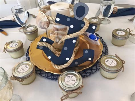 Ahoy It S A Boy Baby Shower Project Nursery Nautical Theme Baby Shower Centerpieces