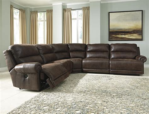 ashley faux leather sofa ashley signature design luttrell 5 piece faux leather