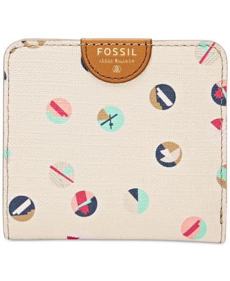 Clutch Fossil Printed Faux Leather Multi Colour fossil sydney printed bifold wallet in lyst