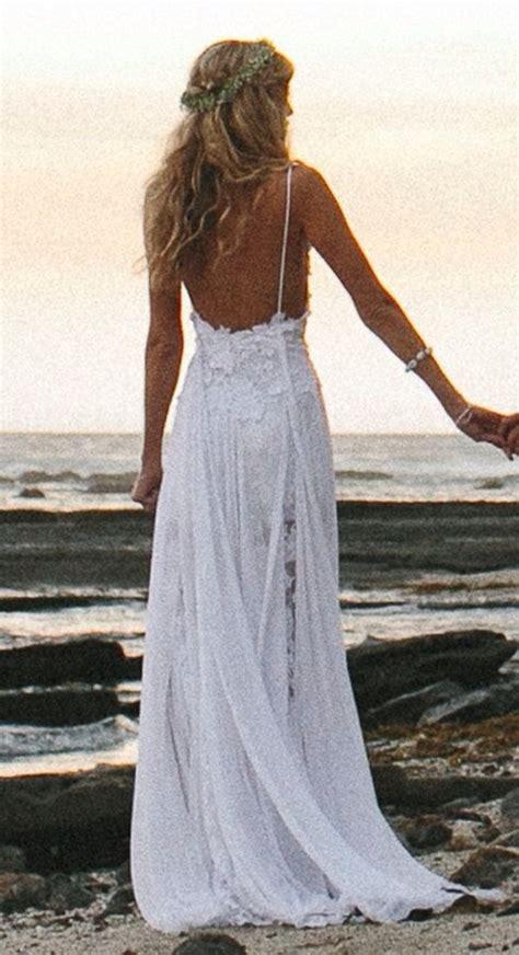 wedding dresses spaghetti straps appliques low back