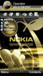 themes gold nokia download animated nokia gold theme nokia theme mobile toones