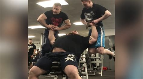 world s strongest man bench press world s strongest man athlete eddie hall lifts two