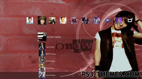 kpop ps3 themes ps3 themes 187 dubu onew