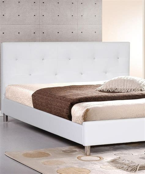 Button Tufted Bed Frame White Button Tufted Modern Bed Frame