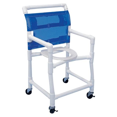 Commode Chair by Healthline Pvc Deluxe Shower Commode Chair Shower Chairs