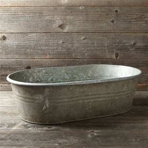 old galvanized bathtub vintage galvanized bathtub planter williams sonoma