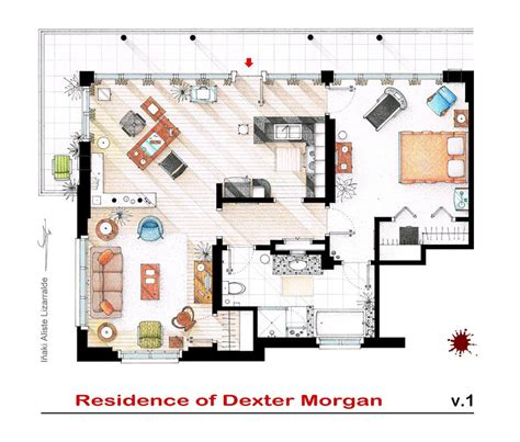 home interior design tv shows artist sketches the floor plans of popular tv homes