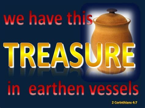 corinthians      treasure  earthen vessels    surpassing greatness