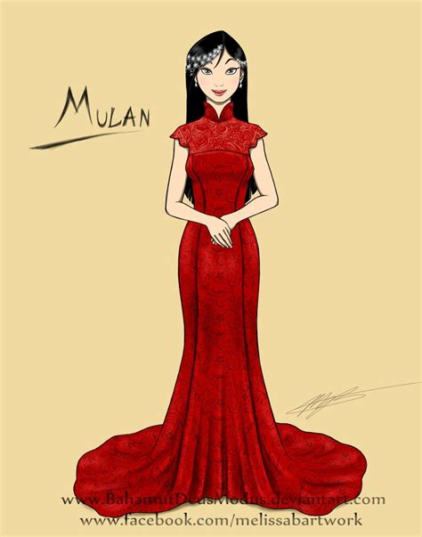 mulan wedding gown sketch by bahamutdeusmodus on deviantart