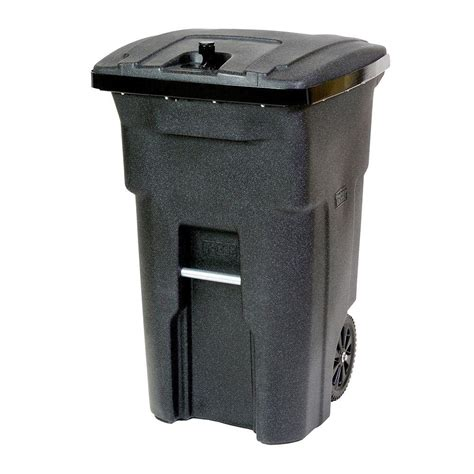 64 gallon trash can toter 64 gal black tight wheeled trash can 025b64 01bks the home depot
