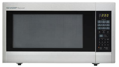 Microwave Sharp R 249 In r 651zs countertop microwave stainless steel 2 2 cu ft