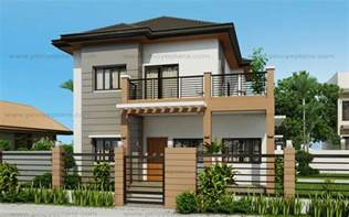 2 Storey House Design by Marcelino Four Bedroom Two Storey Mhd 2016021 Pinoy