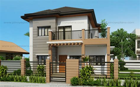 3 Bedroom House Floor Plans by Marcelino Four Bedroom Two Storey Mhd 2016021 Pinoy
