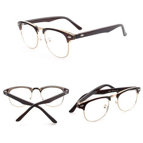 vintage half frame lens clear reading glasses eyewear