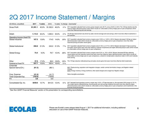 section 32 vendor statement ecolab inc 2017 q2 results earnings call slides