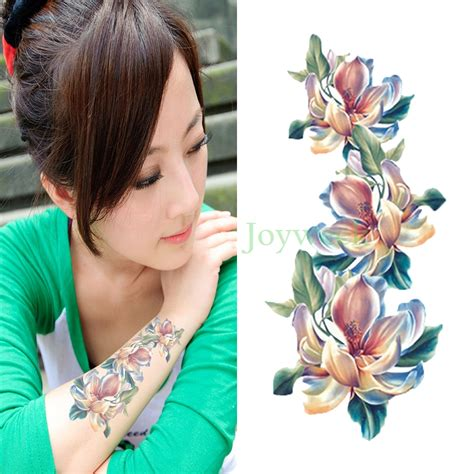 flash tattoos aliexpress online buy wholesale orchid flowers tattoos from china