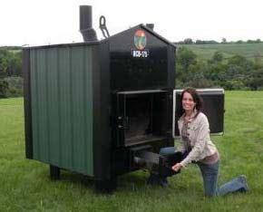 ham wood burning stove  shed