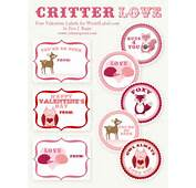 Critter Love Valentines  World Label For 50 More FREE Valentine