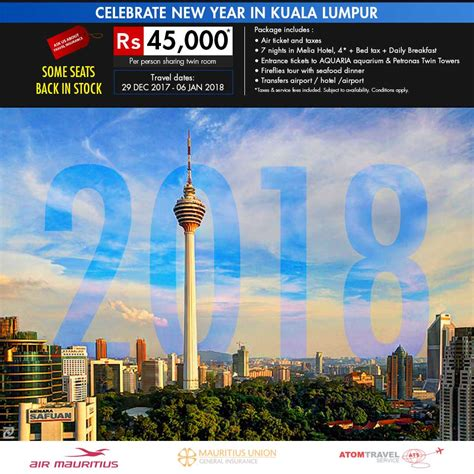 new year 2018 buffet kl new year in kuala lumpur 29 dec 2017 06 jan 2018