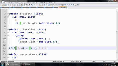 xlisp tutorial common lisp tutorial 5 list functions youtube