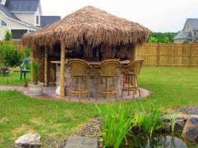 Backyard Tiki Bar Ideas 8 Outdoor Tiki Bars That Make Us Want To Hula Photos Huffpost