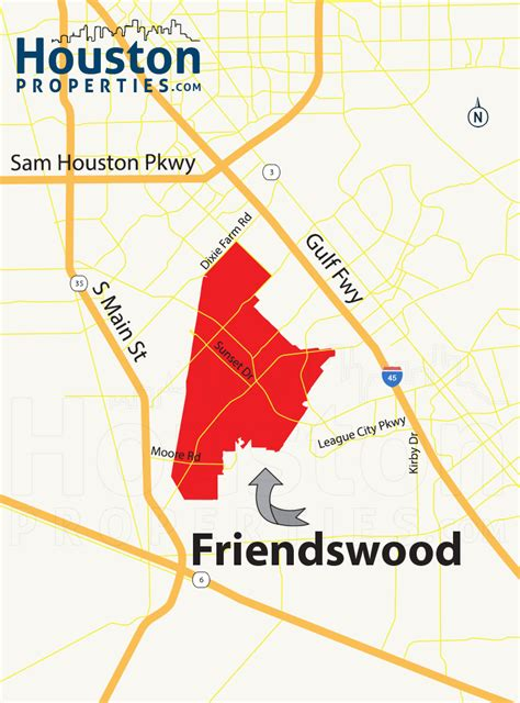 friendswood texas map friendswood tx guide to friendswood homes for sale