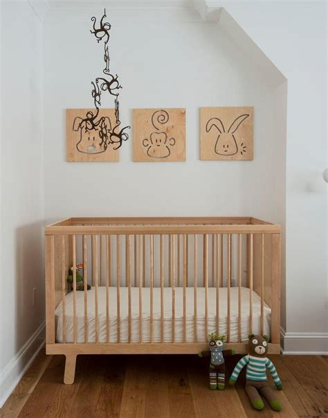 Simple Cribs by Simple Decor Room Design With Frame On The Wall Above