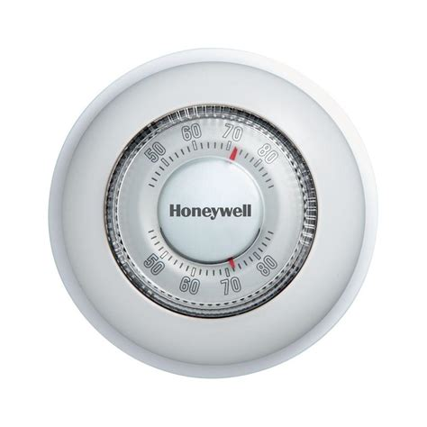 house thermostat honeywell round mechanical thermostat heat only ct87k the home depot