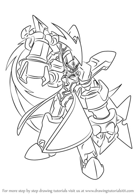 zero mega man coloring page learn how to draw omega from mega man zero mega man zero