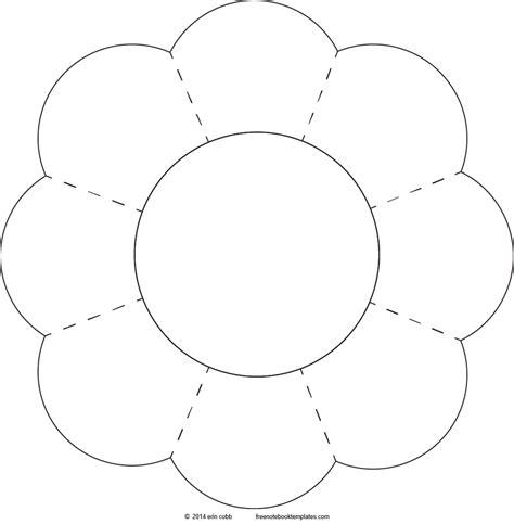 petal shape template shapes 8 petal flower free notebook templates