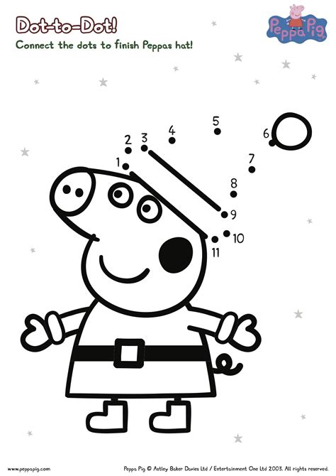 Peppa Pig Printable Christmas Worksheets The The Pig Coloring Pages
