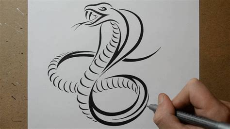 king cobra tribal tattoo how to draw a cobra snake tribal design style